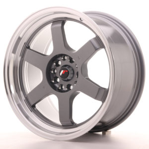 JR Wheels JR12 18x9 ET25 5x114/120 Gun Metal w/Machined Lip