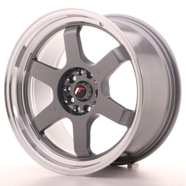 JR Wheels JR12 18x9 ET25 5x114/120 Gun Metal w/Machined Lip