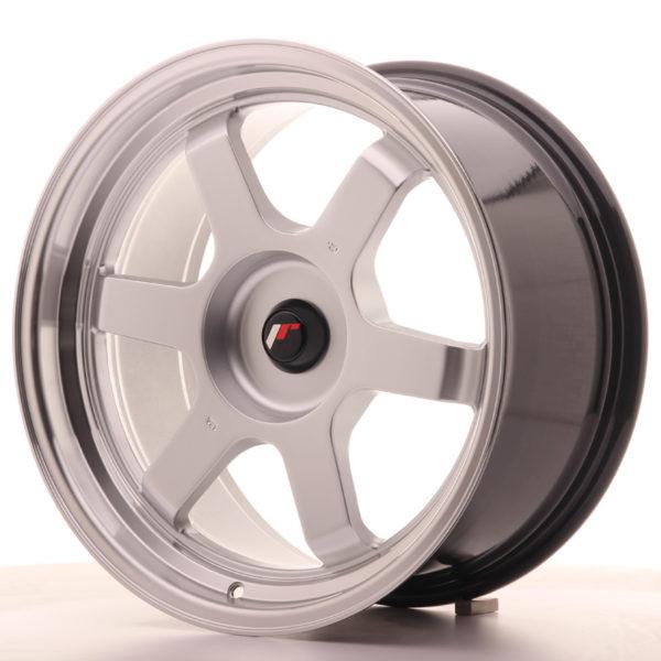 JR Wheels JR12 18x9 ET25-27 BLANK Hyper Silver w/Machined Lip