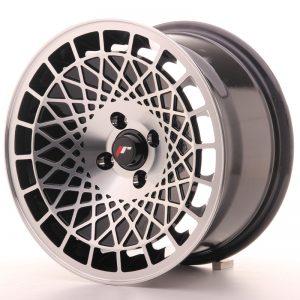 JR Wheels JR14 15x8 ET20 4x100 Gloss Black w/Machined Face