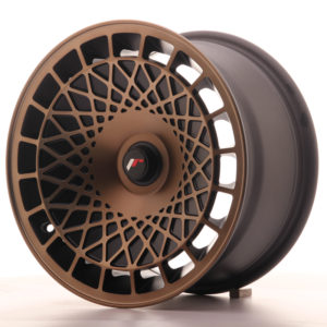 JR Wheels JR14 15x8 ET20-25 BLANK Matt Black w/Bronze Finish
