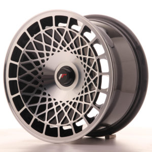 JR Wheels JR14 15x8 ET20-25 BLANK Gloss Black w/Machined Face
