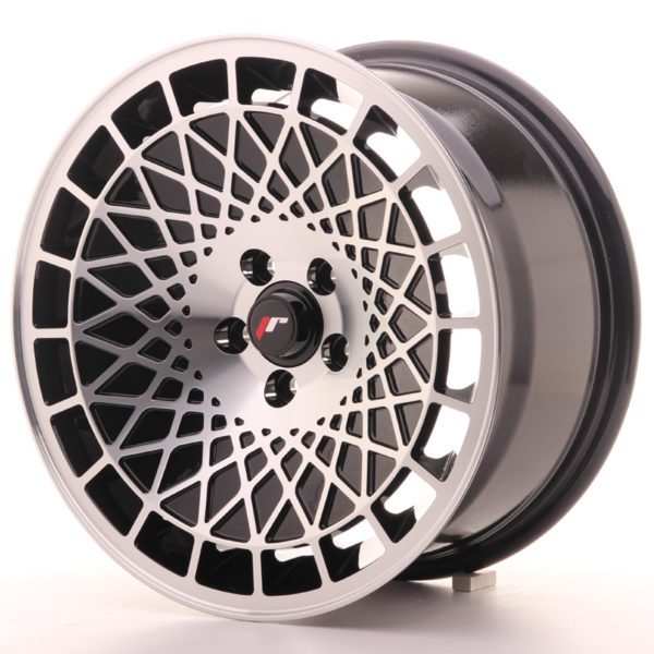 JR Wheels JR14 16x8 ET25 4x100 Gloss Black w/Machined Face