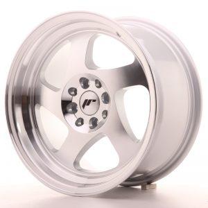 JR Wheels JR15 16x8 ET25 4x100/108 Silver Machined Face