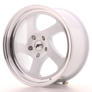 JR Wheels JR15 17x8 ET35 BLANK White w/Machined Lip