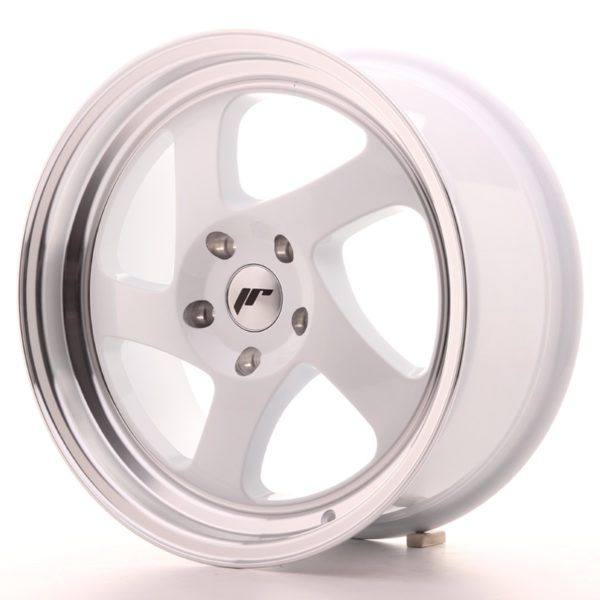 JR Wheels JR15 17x8 ET35 BLANK White w/Machined Lip