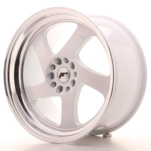JR Wheels JR15 18x9,5 ET40 5x112/114 White w/Machined Lip