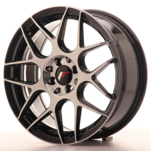 JR Wheels JR18 17x7 ET40 5x100/114 Gloss Black Machined Face