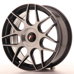 JR Wheels JR18 17x7 ET20-40 BLANK Gloss Black Machined Face