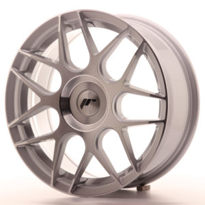 JR Wheels JR18 17x7 ET20-40 BLANK Silver Machined Face