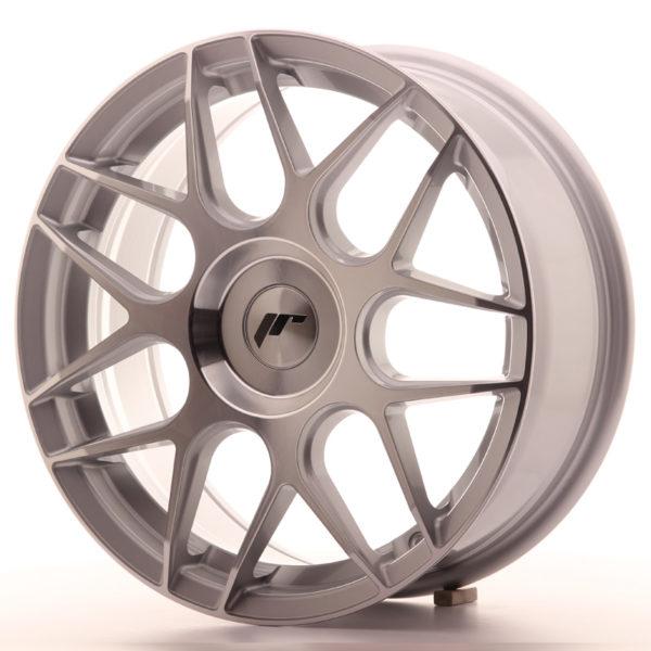 JR Wheels JR18 17x7 ET20-40 BLANK Silver Machined Face