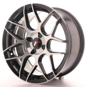 JR Wheels JR18 17x8 ET25-35 4H BLANK Gloss Black Machined Face
