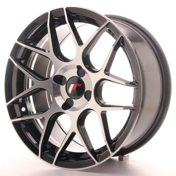 JR Wheels JR18 17x8 ET25-35 4H BLANK Gloss Black Machined Face