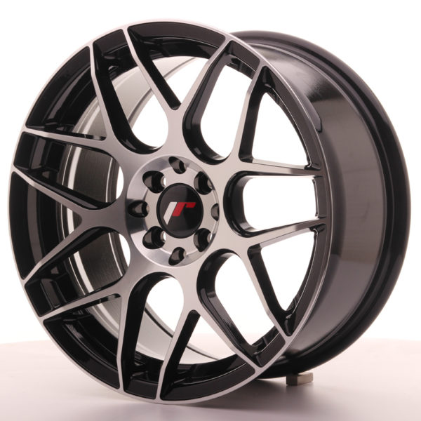 JR Wheels JR18 17x8 ET35 5x100/114 Gloss Black Machined Face