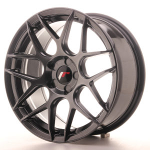 JR Wheels JR18 17x8 ET35 5H BLANK Hyper Black