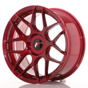 JR Wheels JR18 17x8 ET25-35 BLANK Platinum Red