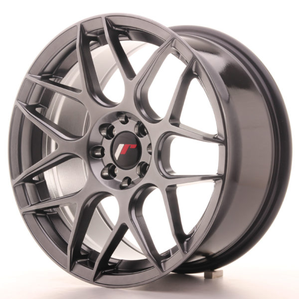 JR Wheels JR18 17x8 ET25 4x100/108 Hyper Black