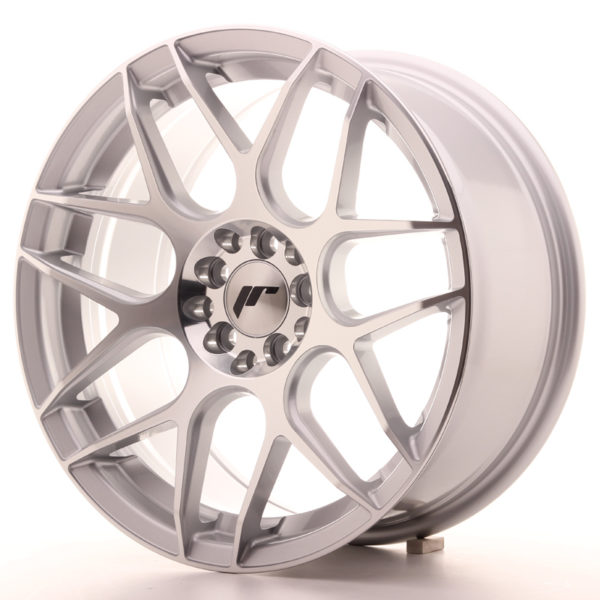 JR Wheels JR18 17x8 ET25 4x100/108 Silver Machined Face