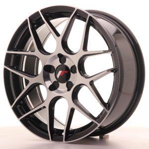 JR Wheels JR18 18x7,5 ET35-42 BLANK 5H Gloss Black Machined Face
