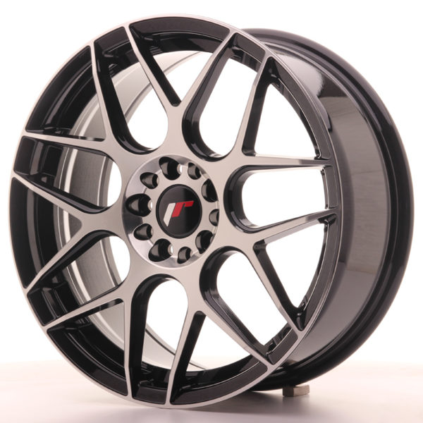 JR Wheels JR18 18x7,5 ET40 5x100/120 Gloss Black Machined Face