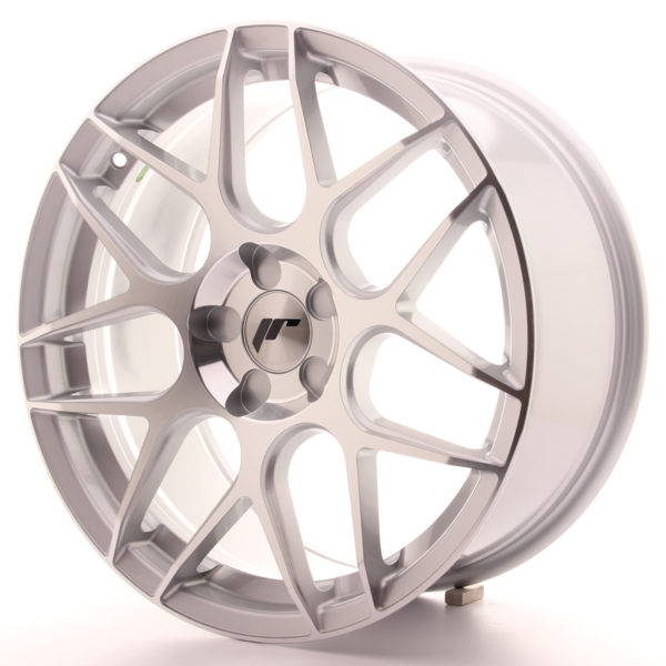 JR Wheels JR18 18x8,5 ET35-45 5H BLANK Silver Machined Face