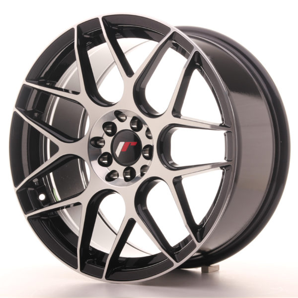 JR Wheels JR18 18x8,5 ET35 5x100/120 Gloss Black Machined Face