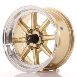 JR Wheels JR19 14x7 ET0 4x100/114 Gold w/Machined Lip