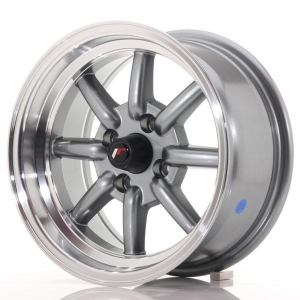 JR Wheels JR19 14x7 ET0 4x100 Gun Metal w/Machined Lip