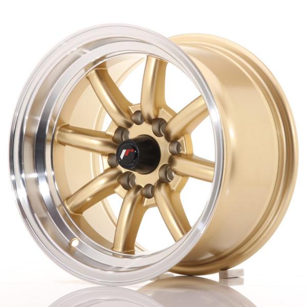 JR Wheels JR19 14x8 ET-13 4x100/114 Gold w/Machined Lip