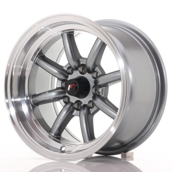 JR Wheels JR19 14x8 ET-13 4x100/114 Gun Metal w/Machined Lip