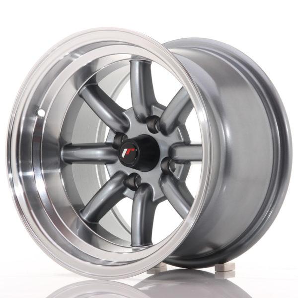 JR Wheels JR19 14x9 ET-25 4x100 Gun Metal w/Machined Lip