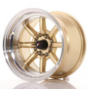 JR Wheels JR19 14x9 ET-25 4x100/114 Gold w/Machined Lip