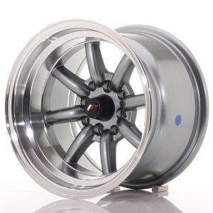 JR Wheels JR19 14x9 ET-25 4x100/114 Gun Metal w/Machined Lip