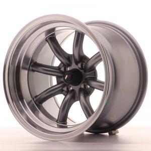 JR Wheels JR19 15x10,5 ET-32 4x100 Gun Metal w/Machined Lip