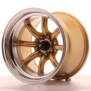 JR Wheels JR19 15x10,5 ET-32 4x100/114 Gold w/Machined Lip