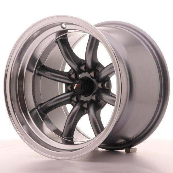 JR Wheels JR19 15x10,5 ET-32 4x100/114 Gun Metal w/Machined Lip