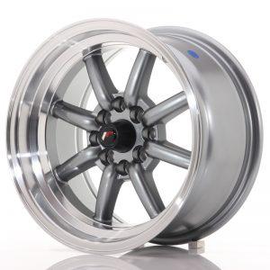 JR Wheels JR19 15x8 ET0 4x100/114 Gun Metal w/Machined Lip