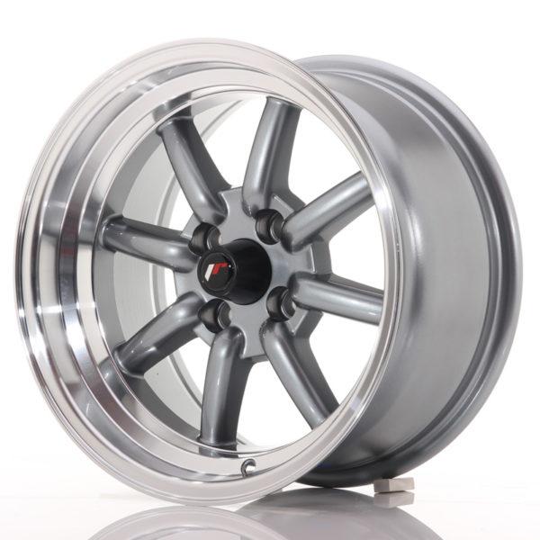JR Wheels JR19 15x8 ET0 4x100 Gun Metal w/Machined Lip