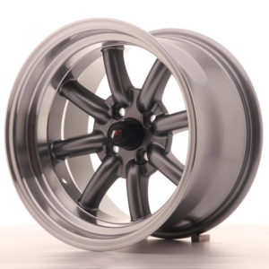 JR Wheels JR19 15x9 ET-13 4x100 Gun Metal w/Machined Lip