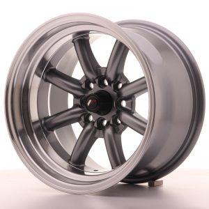 JR Wheels JR19 15x9 ET-13 4x100/114 Gun Metal w/Machined Lip