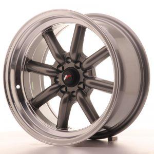 JR Wheels JR19 16x8 ET-20 4x100/114 Gun Metal w/Machined Lip