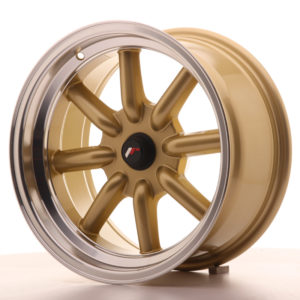 JR Wheels JR19 16x8 ET-20-0 BLANK Gold w/Machined Lip
