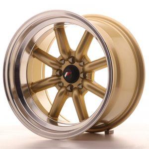 JR Wheels JR19 16x9 ET-15 4x100/114 Gold w/Machined Lip