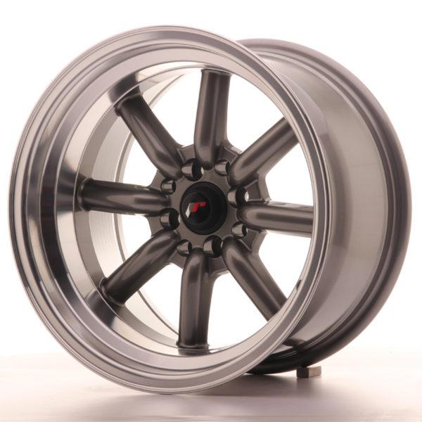 JR Wheels JR19 16x9 ET-15 4x100/114 Gun Metal w/Machined Lip