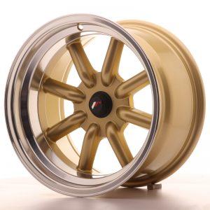 JR Wheels JR19 16x9 ET-25-(-15) BLANK Gold w/Machined Lip