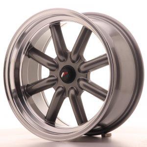 JR Wheels JR19 17x8 ET0 BLANK Gun Metal w/Machined Lip
