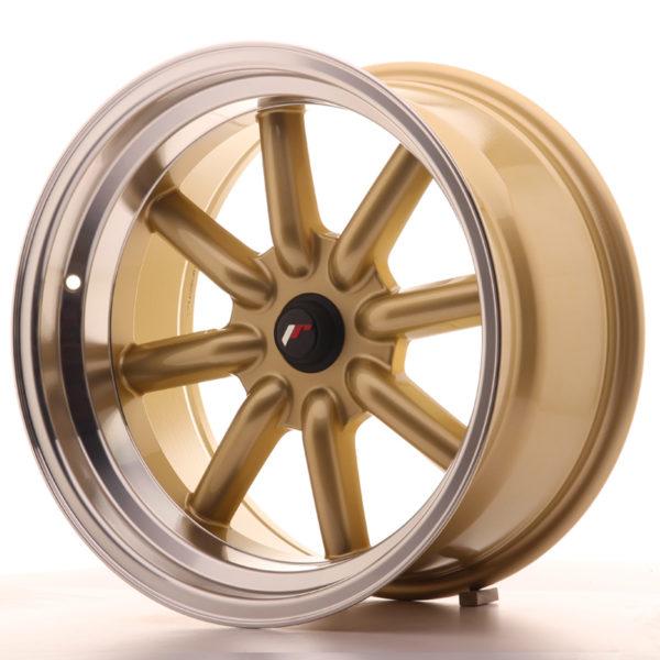 JR Wheels JR19 17x9 ET-25-(-10) BLANK Gold w/Machined Lip