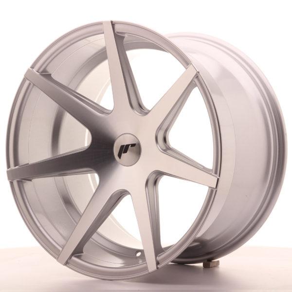 JR Wheels JR20 19x11 ET25-40 5H BLANK Silver Machined Face