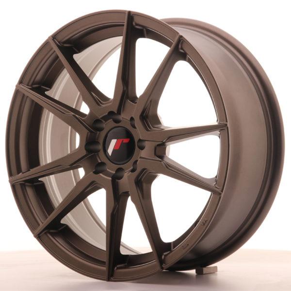JR Wheels JR21 17x7 ET40 5x100/114 Matt Bronze