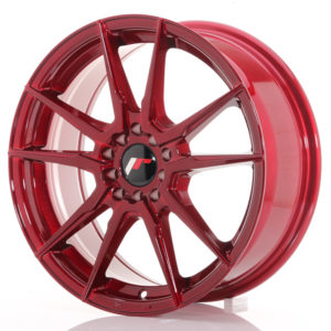JR Wheels JR21 17x7 ET40 5x100/114 Platinum Red